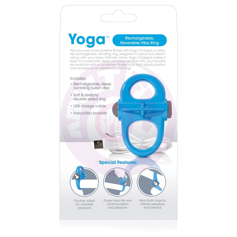 Charged Yoga Rechargeable Vibe Ring - Blue