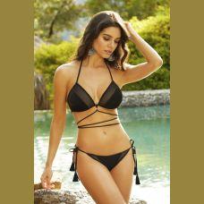 Bikini Bottom W / Side Ties - Extra Large- Black