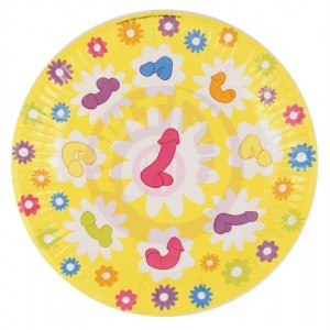 Super Fun Penis Party Plates - 8 Count