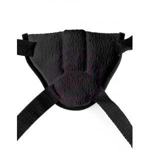 Fetish Fantasy Series Vibrating Plush Harness - Black
