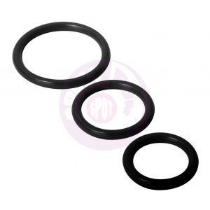 Trinity Silicone Cock Rings - Black