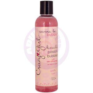 Crazy Girl Kissable Passion Bubbles With  Pheromones - Vanilla Mint - 8 Fl. Oz. / 237 ml