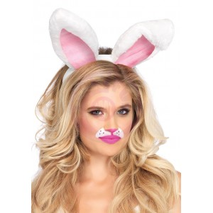 Plush Bunny Ears - White