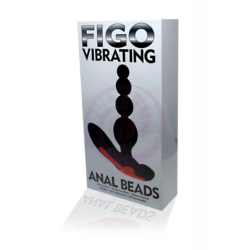 Vibrating Anal Beads - Black