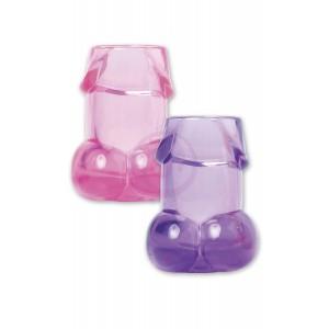 Bachelorette Party Pecker Shot Glasses - 6 Pieces - Assorted Colors