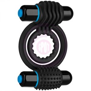 Optimale Vibrating Double C Ring - Black