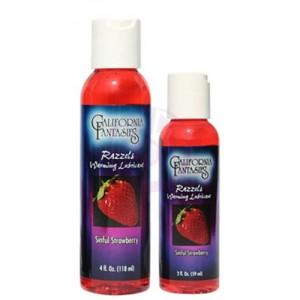 Razzels Warming Lubricant - Sinful Strawberry - 2 Oz. Bottle
