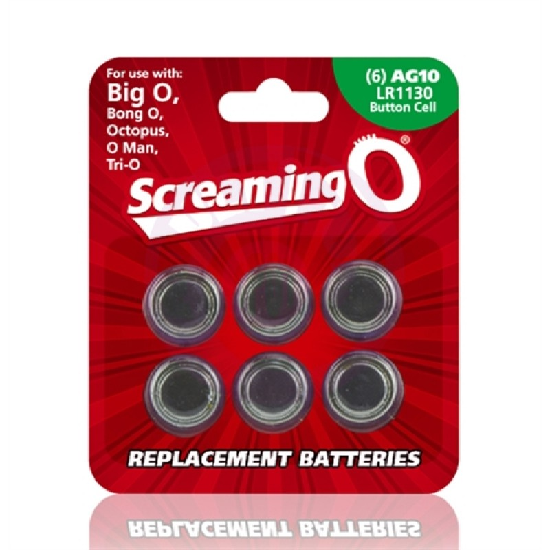 Replacement Batteries - 6 Pack - Each - AG10 - LR1130 - Button Cell