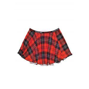 F*Ck Off Plaid Skirt - Red Plaid - L/xl