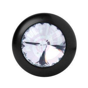 Master Series Spade Petite Jewel Aluminum Anal  Plug - Crystal