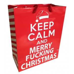 Keep Calm & Merry Fucking Christmas - Gift Bag