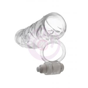 Fantasy X-Tensions Vibrating Super Sleeve - Clear