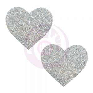 Silver Pikie Dust Glitter Heart Pasties