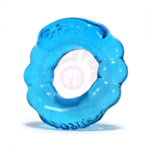 6 Pack Cockring Atomic Jock - Ice Blue