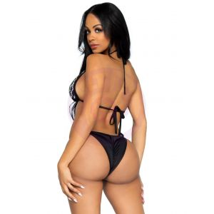 2 Pc Domino Bikini Set - Black - Small