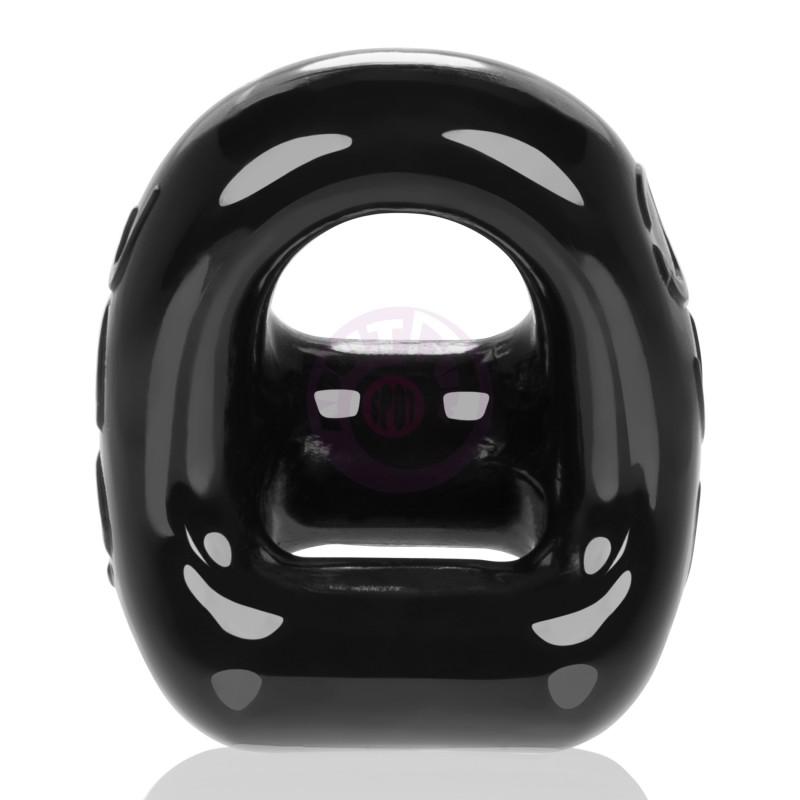 360 2- Way Cockring + Ballsling - Black