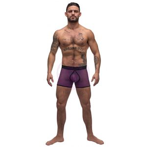 Airotic Mesh Enhancer Short - Purple - Medium