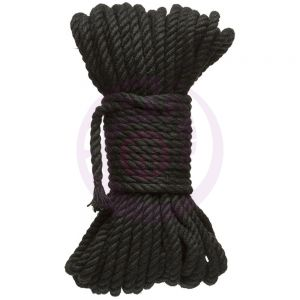Hogtied - Bind & Tie - 6mm Hemp Bondage Rope - 50 Feet - Black