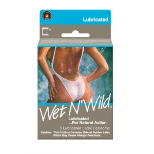 Contempo Wet N Wild Lubricated Condoms - 3 Pack