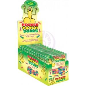 Pecker Patch Sour Gummies - 12 Piece Display