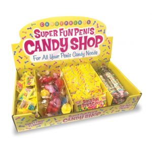 Super Fun Penis Candy Shop 166 Ct Display - for All Your Penis Needs