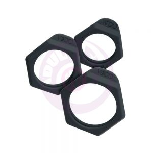 Bolt Cockring Set - Black