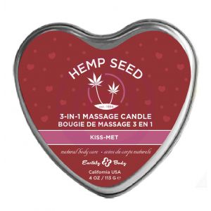 Heart Candle - 3-in-1 -  Kiss-Met - 4.7 Oz.