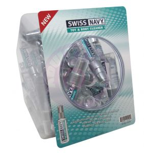 Swiss Navy Toy and Body Cleaner 1oz 50pc Fishbowl