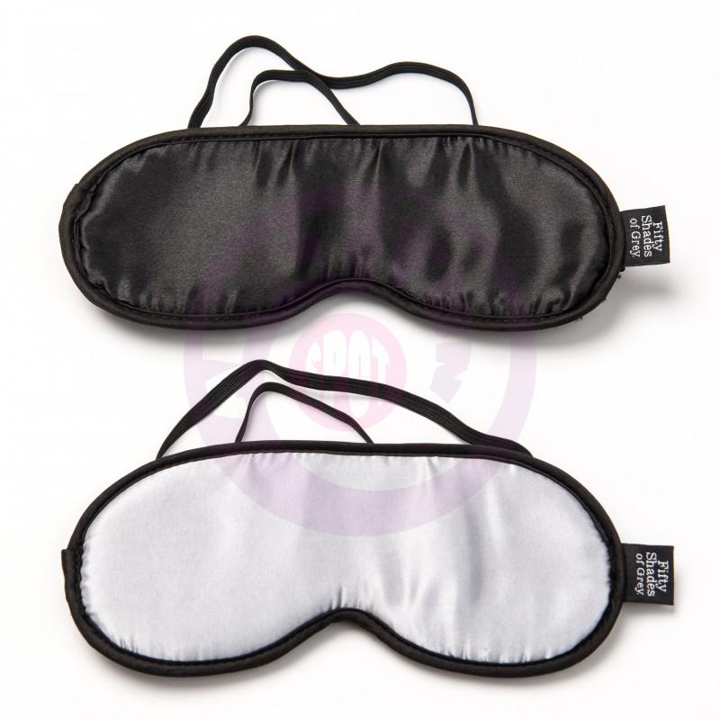 Fifty Shades of Grey No Peeking Soft Twin  Blindfold Set