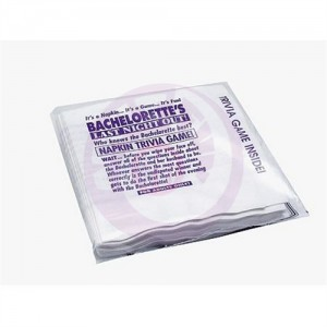 Bachelorette's Last Night Out! Napkin Trivia Game - 25 Pack