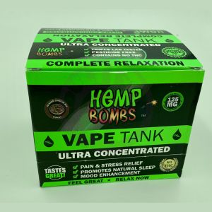 Hemp Bombs 125mg Hemp Vape Tank Cartidge - Glazed Chocolate Donut  6 Ct Display