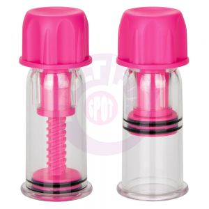 Nipple Play Vacuum Twist Suckers - Pink