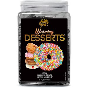 Wet Warming Desserts Fresh Delicious Donuts 10ml Pouch Counter Bowl 144pc Display