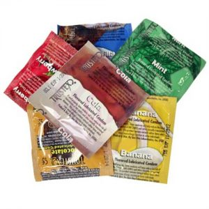 Trustex Flavored Lubricated Condoms - 12 Pack Assorted