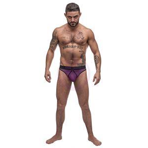 Airotic Mesh Enhancer Thong - Purple - L/xl