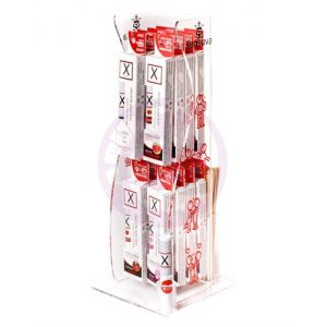 X on the Lips Buzzing Lip Balm - 16 Piece Tower Display - Assorted Flavors