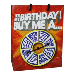It Is My Birthday Buy Me Shot Spinner Gift Bag