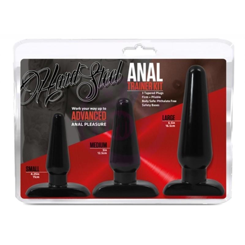 Hard Steel Anal Trainer Kit - Black