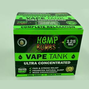 Hemp Bombs 125mg Hemp Vape Tank Cartidge - Vanilla Cupcake Swirl 6 Ct Display