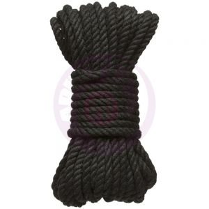 Hogtied - Bind & Tie - 6mm Hemp Bondage Rope - 30 Feet - Black
