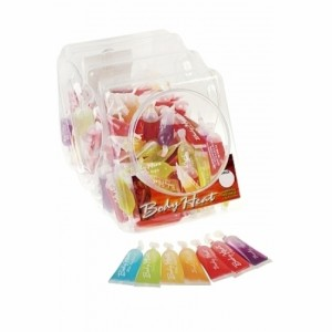 Body Heat Warming Massage Lotion - 120 Piece Fishbowl - 10 ml Pillows