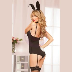 Bunny Bedroom Costume Set - One Size - Black