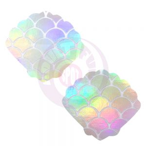 Mystical Mermaid White Holographic Mermaid Shell  Nipztix Pasties