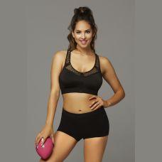 Strike Make It Happen Sports Bra With Netting Inserts  - Large - Black