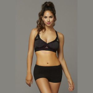 Strike Rock Solid Space Dye Sports Bra - Extra Large - Black