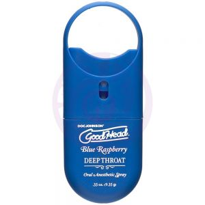 Goodhead - Deep Throat Spray to-Go - Blue  Raspberry - .33 Oz.