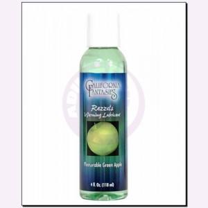 Razzels Warming Lubricant - Pleasurable Green Apple - 4 Oz. Bottle