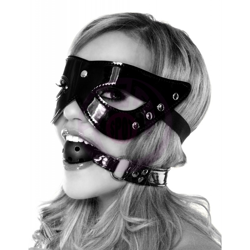 Fetish Fantasy Limited Edition Masquerade Mask and Ball Gag