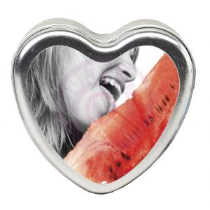 Edible Heart Candle - Watermelon - 4 Oz.